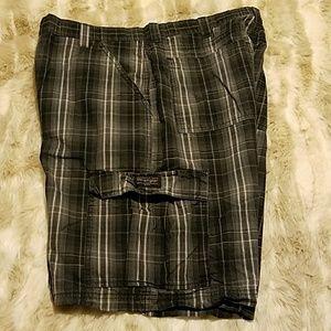 Wrangler plaid cargo shorts
